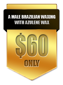 A Male Brazilian Waxing with Azulene Wax